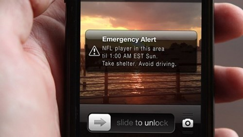 nfl,emergency alert