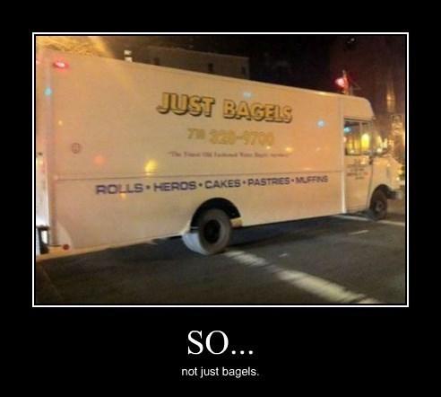 lies,truck,bagels,funny