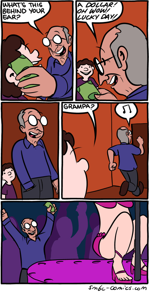 strippers Grandpa money web comics magic - 8322335744