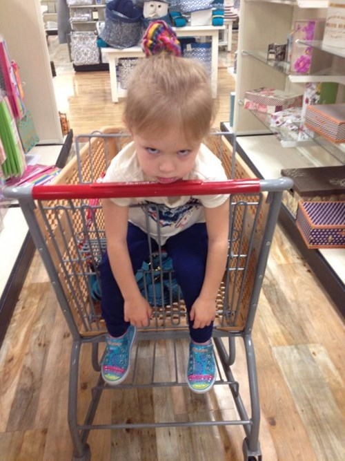kids,shopping,shopping cart,expression,parenting