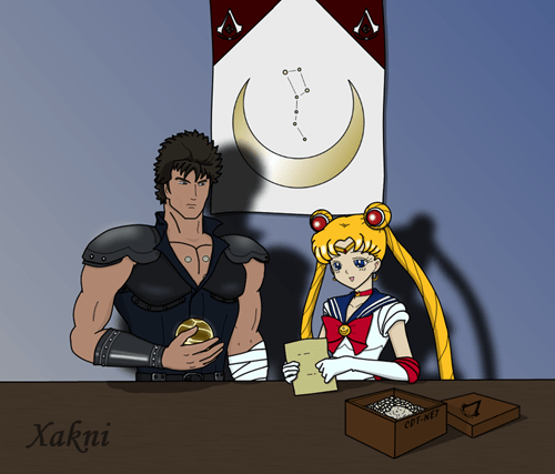 fist of the north star Fan Art sailor moon - 8322381568