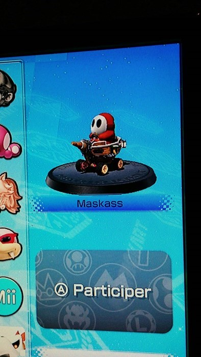 mario kart 8,shy guy,french