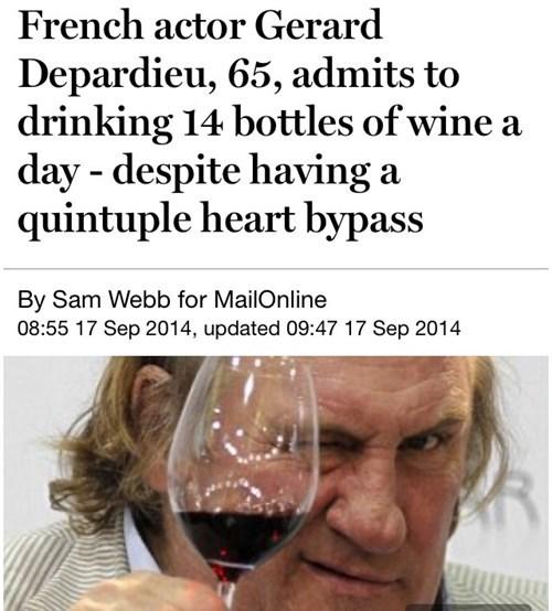 wtf,Gérard Depardieu,drunk,wine