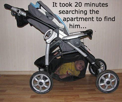 kids,parenting,stroller,hiding