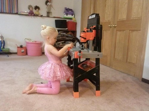 tutu,kids,tools,parenting,stereotypes,g rated