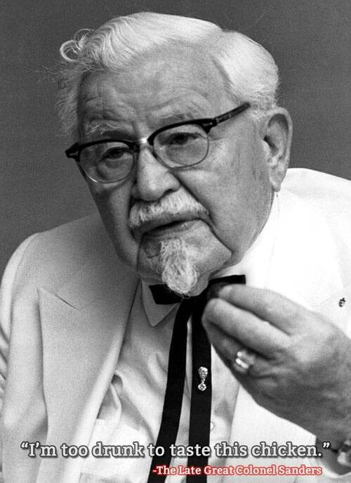 chicken drunk colonel sanders funny - 8322472448