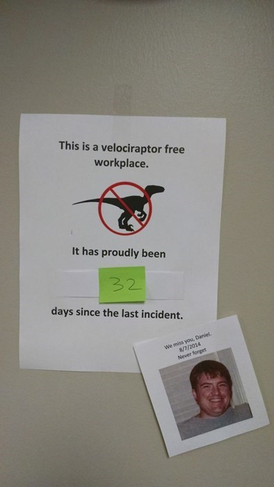 monday thru friday,sign,velociraptor,g rated