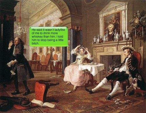 painting texting classical