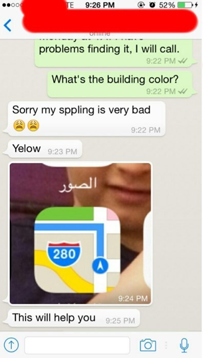 facepalm spelling Maps iphone - 8322599168