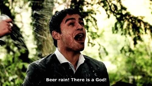 god beer funny rain - 8322740224