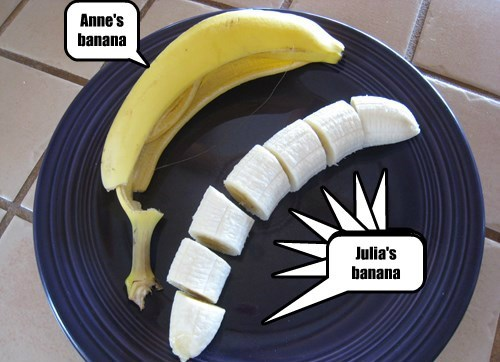 Anne has a banana for lunch