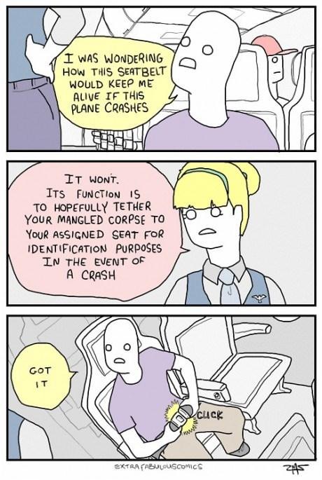classic seat belts airplane web comics - 8323197184