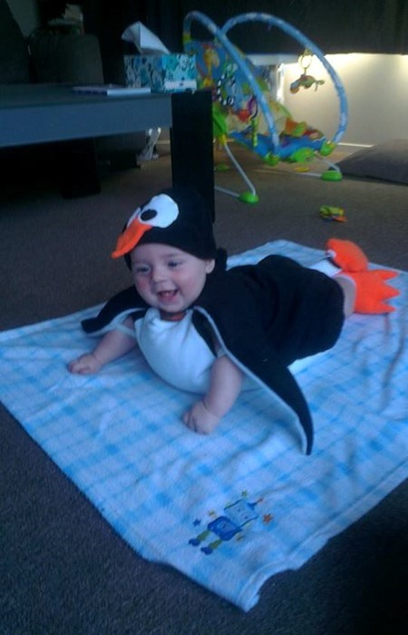 costume,baby,penguins,cute,parenting