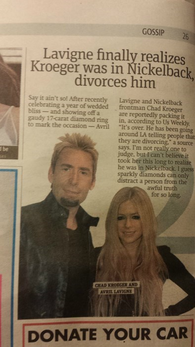marriage avril lavigne nickelback divorce funny dating g rated - 8323236352