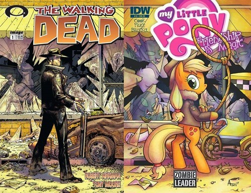 applejack,comics,MLP,The Walking Dead