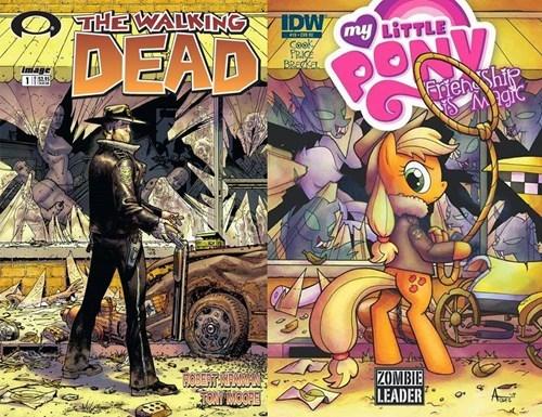 applejack comics MLP The Walking Dead - 8323320576