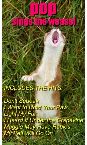 pop sings the weasel INCLUDES THE HITS: Don't Squeak I Want to Hold Your Paw Light My Fur I Heard It Under the Grapevine Maggie May Have Rabies My Pelt Will Go On