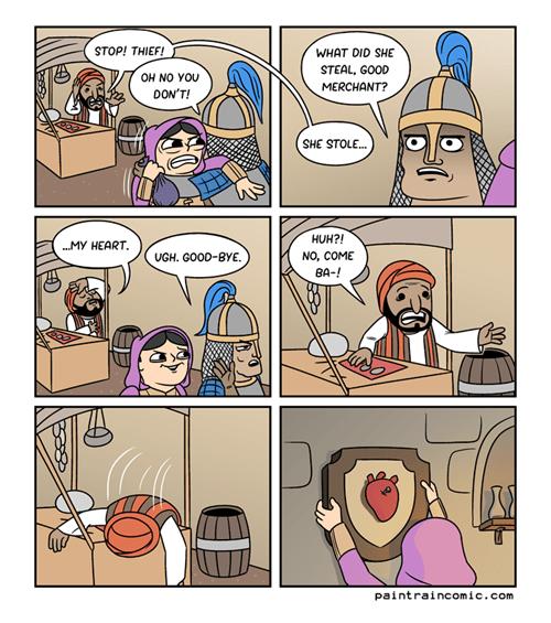 hearts puns theft web comics - 8323373056
