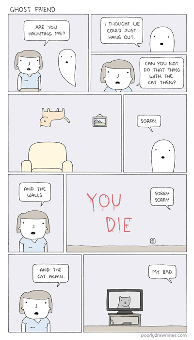 buds,ghosts,sad but true,web comics