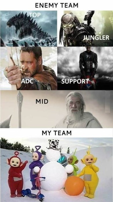 moba,scrubs,teletubbies,plebs