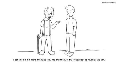 cane Grandpa Vietnam web comics - 8323389952