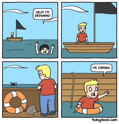 drowning swimming web comics - 8323394304