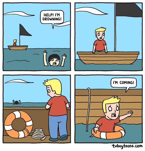 drowning swimming web comics - 8323394304