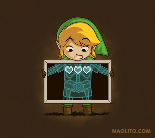 T.Shirt,hearts,zelda