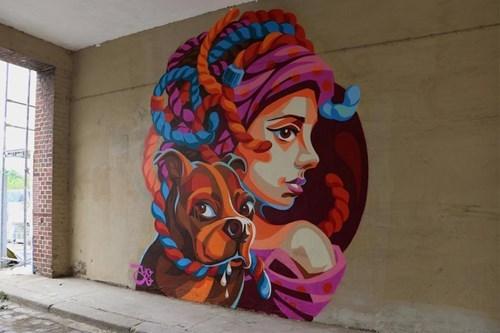 dogs pets Street Art hacked irl - 8323493888