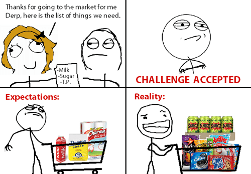 expectations vs reality,grocery shopping