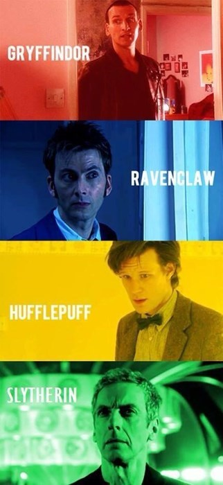 12th Doctor,9th doctor,11th Doctor,10th doctor,gryffindor,Hogwarts,the doctor,sorting hat