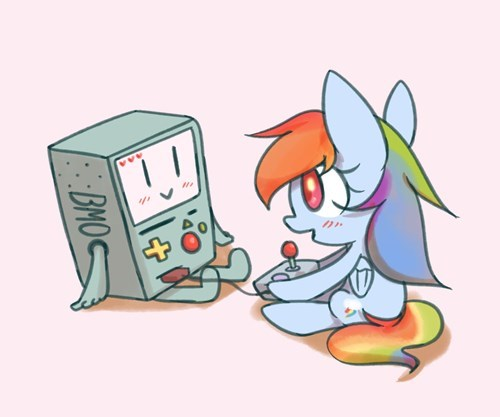 crossover,bmo,Fan Art,rainbow dash