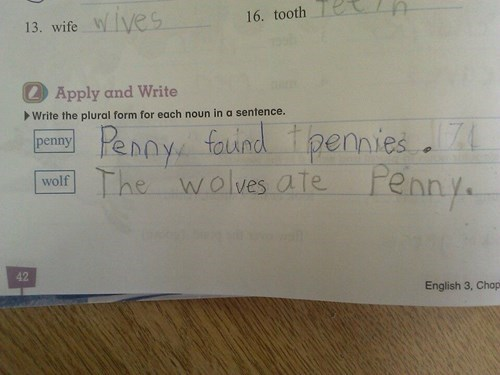 funny,penny,homework,spelling,School of FAIL