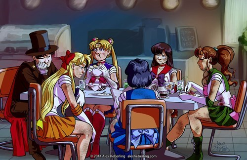 crossover anime Fan Art sailor moon avengers - 8325532160