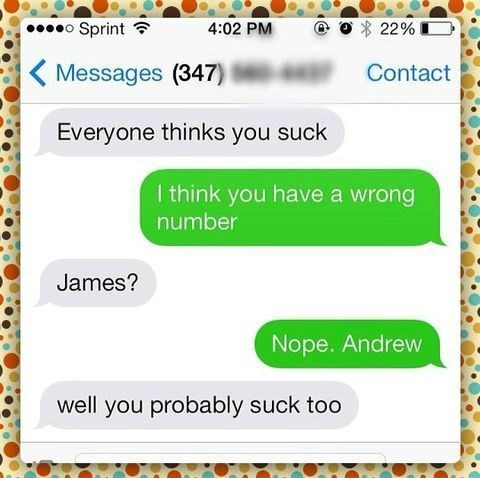 texting wrong number - 8325840384