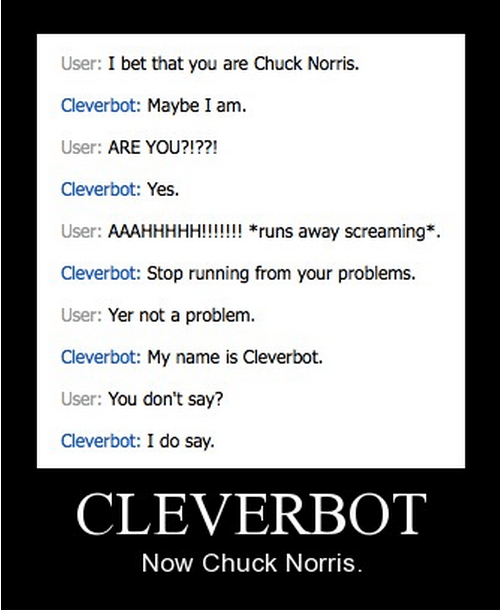 chuck norris Cleverbot funny - 8325925632