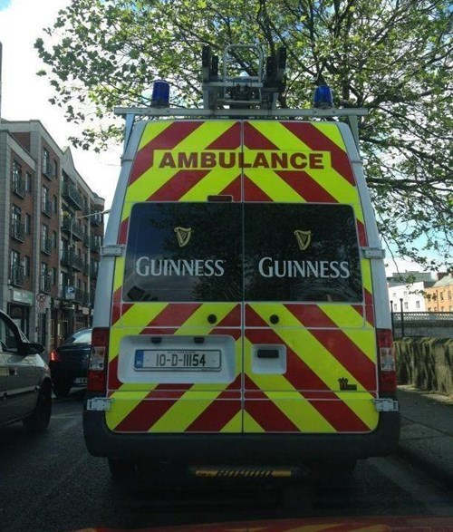 ambulance,guinness,funny,wtf