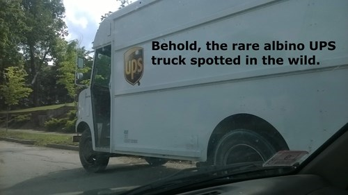 monday thru friday,truck,UPS,g rated