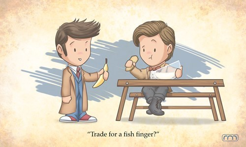 fish fingers,10th doctor,11th Doctor