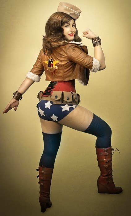 cosplay,ladies,world war II,wonder woman