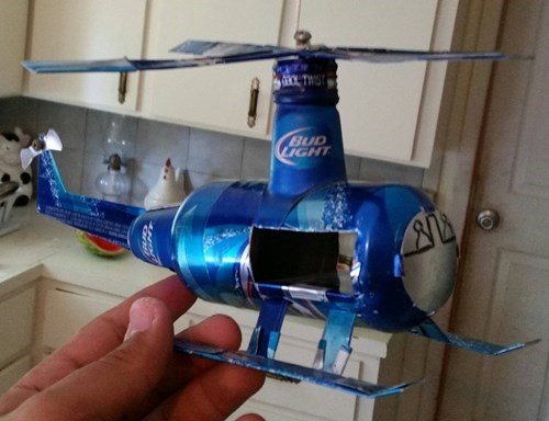 beer funny helicopter scuplture - 8326155520