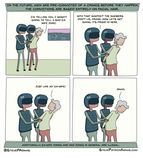 minority report dads dad jokes sad but true divorce web comics - 8327212288