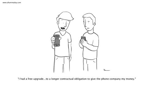 iPhones,sad but true,cell phone,contract,web comics