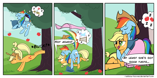 applejack rainbow dash web comics - 8327355136