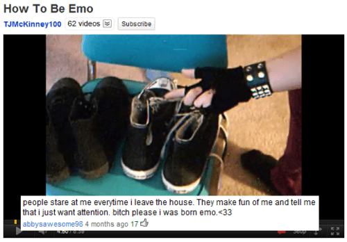 comments emo Music youtube failbook g rated - 8327425024