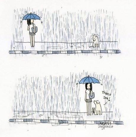 dogs nice rain web comics - 8328057344