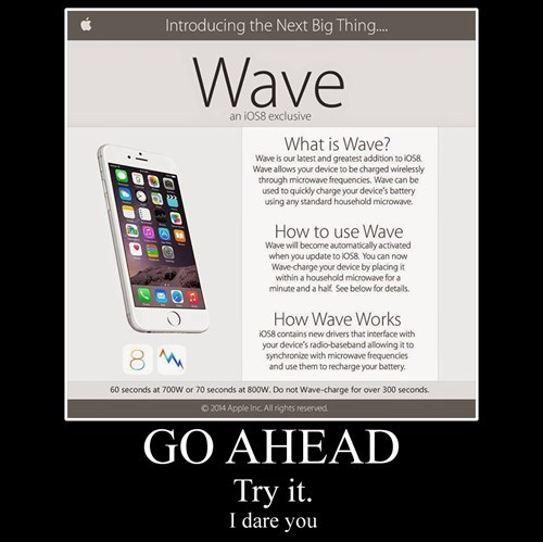 iphone funny wave wtf try it - 8328075776