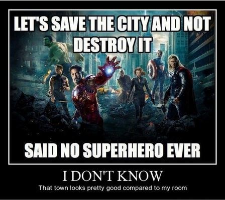 destruction,funny,superheroes,town