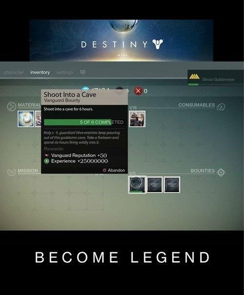 destiny loot cave become legend - 8328303616