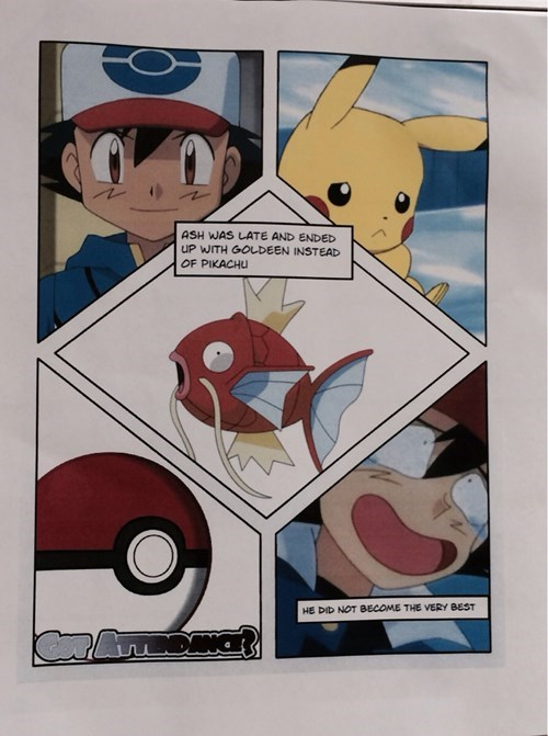 FAIL Pokémon school posters cringe - 8328381696